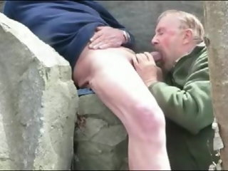 sucking grandpa