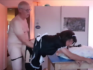 sissy Maid Sissy cleans abode sucks flannel gets fucked maid