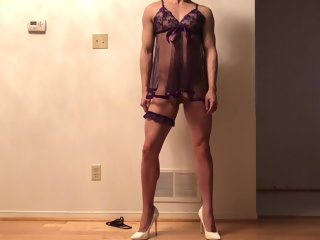 nightie purple