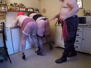 spanked 2 sluts spanked and lick ass sluts