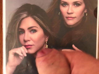 tribute Cum tribute Jennifer Aniston and Reese Witherspoon cum