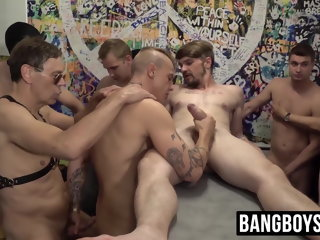 enjoys Jock enjoys it when his ass is raw banged by scalding old guys jock
